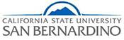 The logo for California State University San Bernardino