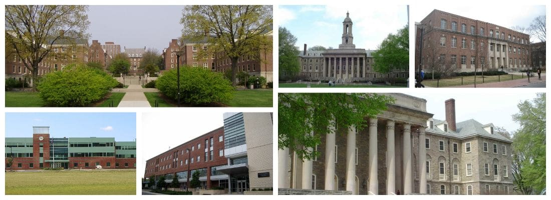 Pennsylvania State University building collage