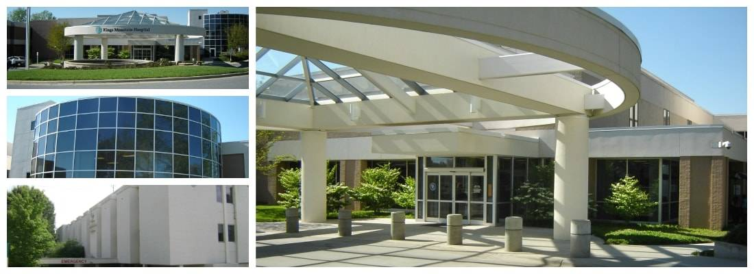 Picture collage of the Carolinas Healthcare buildings where ISES Corporation conducted an Energy Assessment