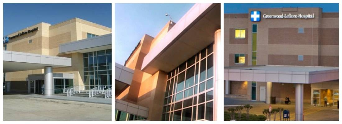 Greenwood Leflore Hospital Building Collage